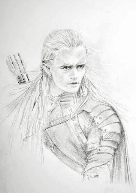 Legolas personnage de la terre du milieu du seigneur des - Dessin seigneur des anneaux ...