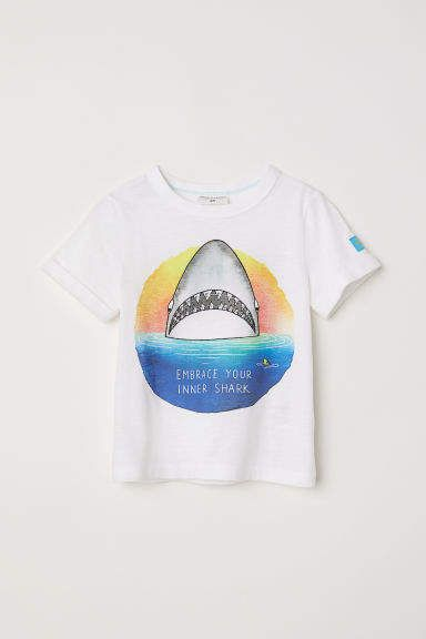 bdbe94e039 T-shirt with Printed Design | Products | Online shopping clothes ...