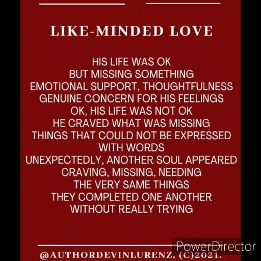 Like-Minded Love, a poem about admitting you're not happy and finding your soul mate. #happy