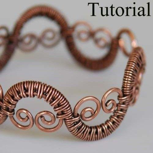 DIY Jewelry Tutorial - Woven Vine Bracelet - PDF | Wire wrapping ...