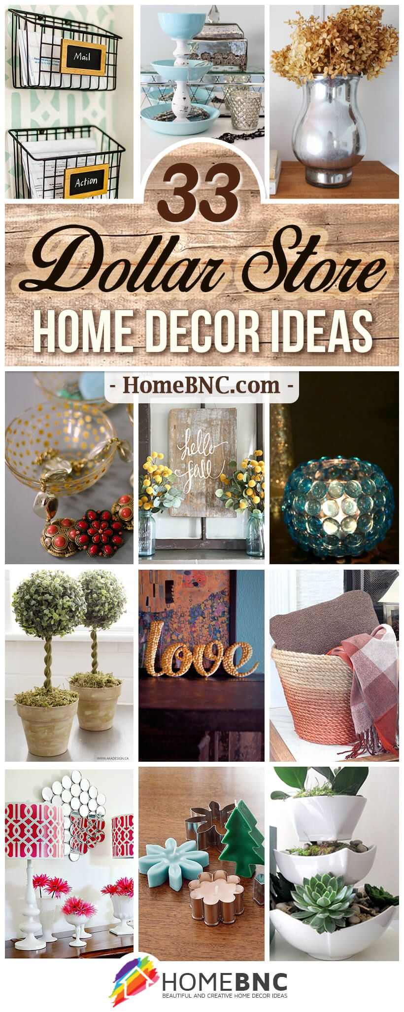 33 Impressive Diy Dollar Store Home Decor Ideas For Designers On A