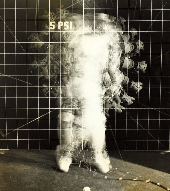 Astronaut in Space Suit...motion range  San Diego Air and Space Museum Archive, via @straup