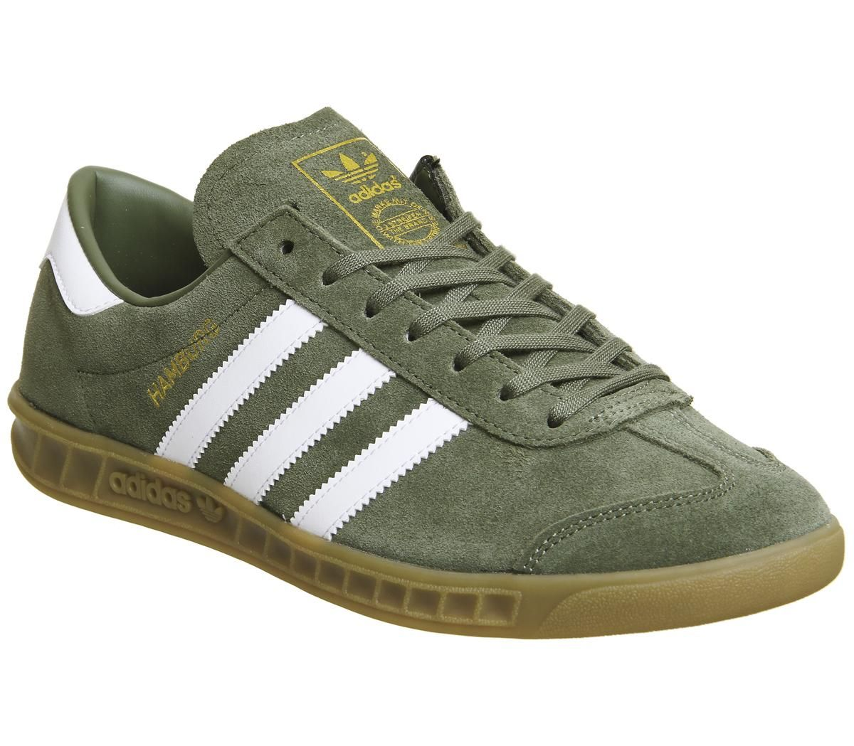 adidas Hamburg Khaki White Exclusive - His trainers | Adidas shoes ...
