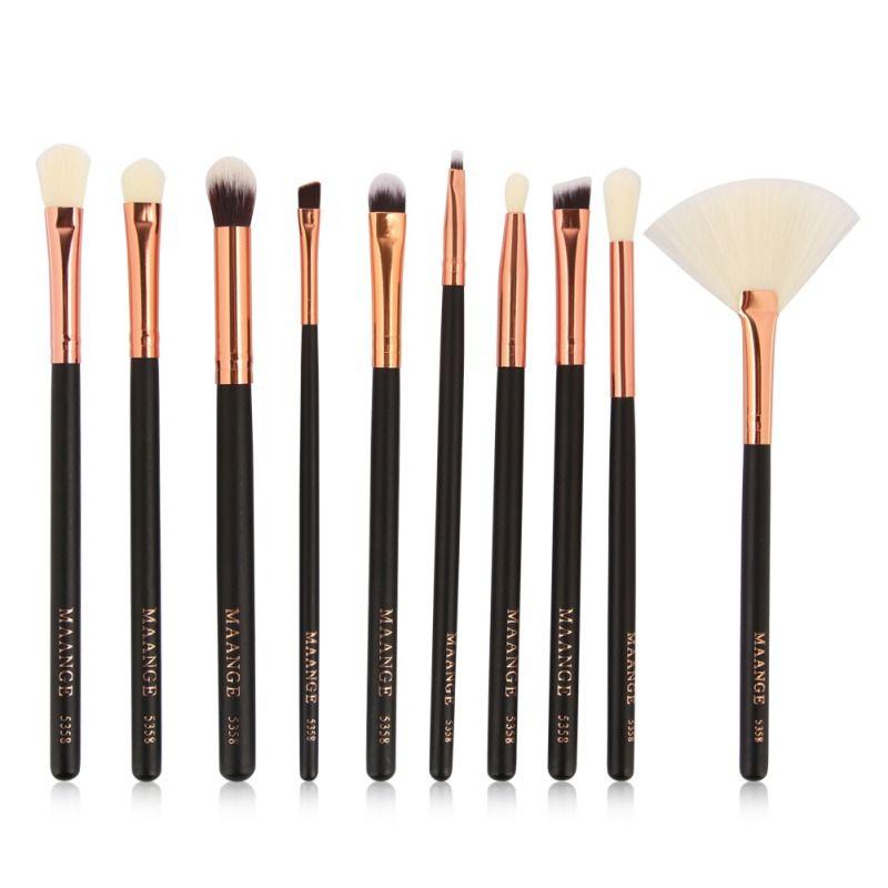 10Pcs Pincel Maquiagem Makeup Brush Sets Facial Contour Blush Eye Makeup Brushes Cosmetics