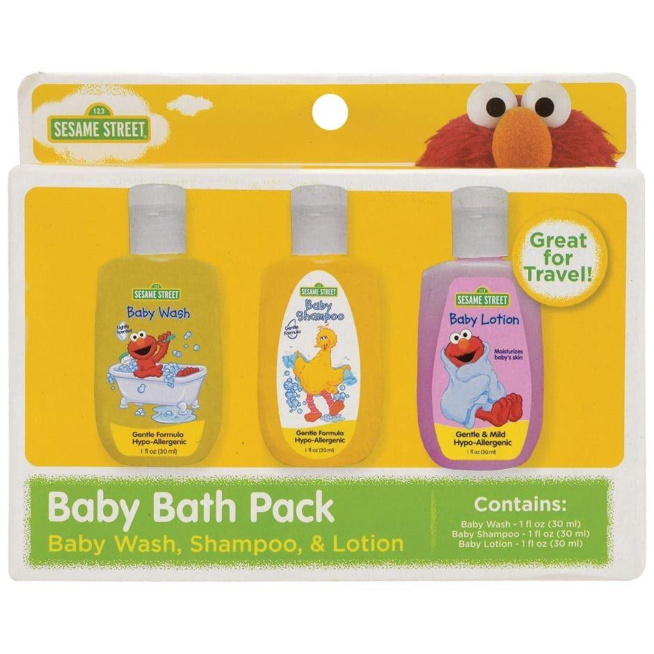 Sesame Street Baby Bath Packs 3 Pc Sets Baby Bath Baby Wash Baby Lotion