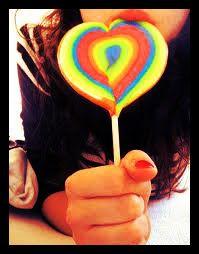 Una piruleta dulce para una chica dulce