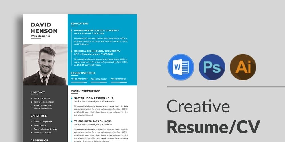 Ultimate Collection Of Free Resume Templates Css Author Creative Cv Template Cv Template Resume Design Template