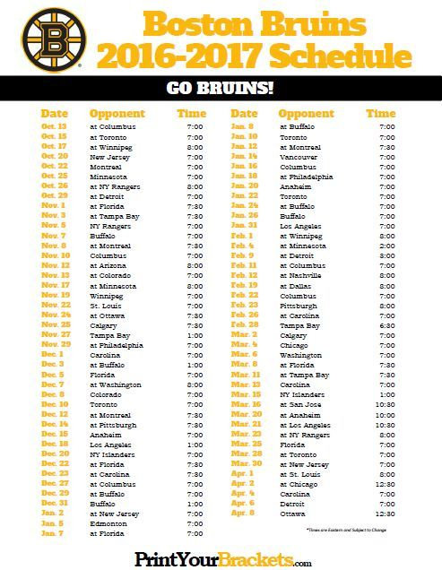 photograph about Sabres Schedule Printable known as Boston Bruins 2016-2017 Routine. Santa claus Bruins