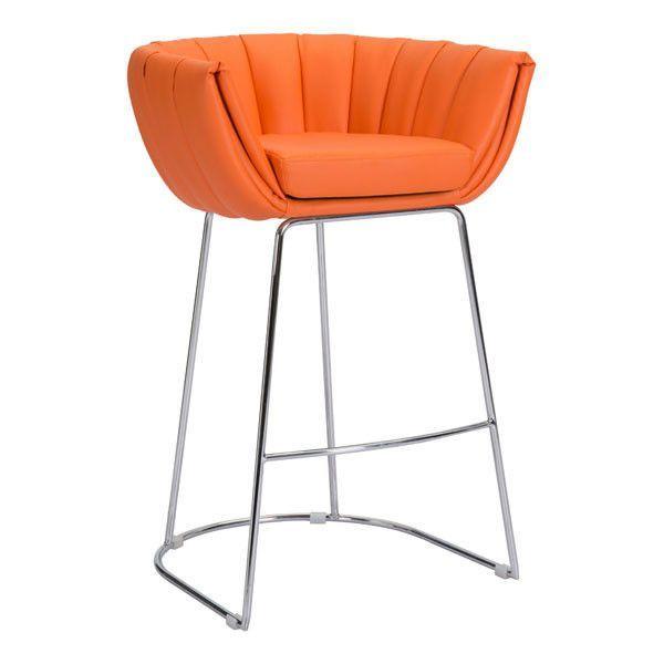 Latte Bar Chair Orange (Set of 2)