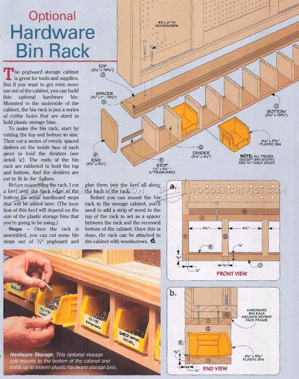 1798 Shop Pegboard Cabinet Plans Workshop Solutions Peg Board