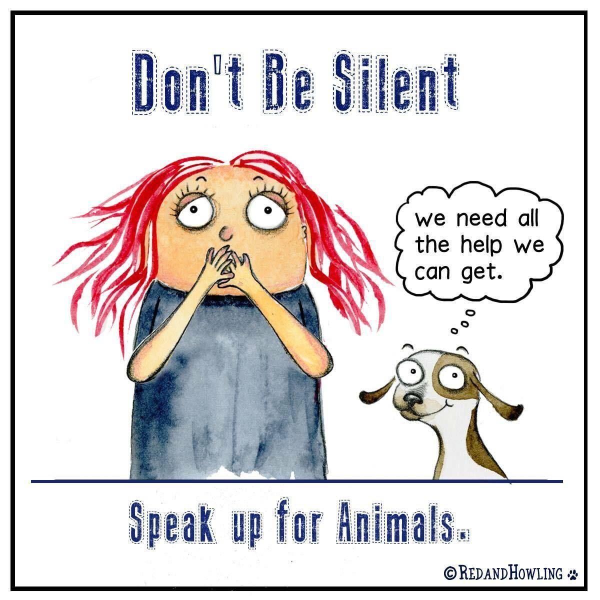 Don't be silent. Speak up for animals! #nomorepuppymills