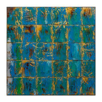 Turquoise Stratus Wooden Canvas Art Print | Kirklands