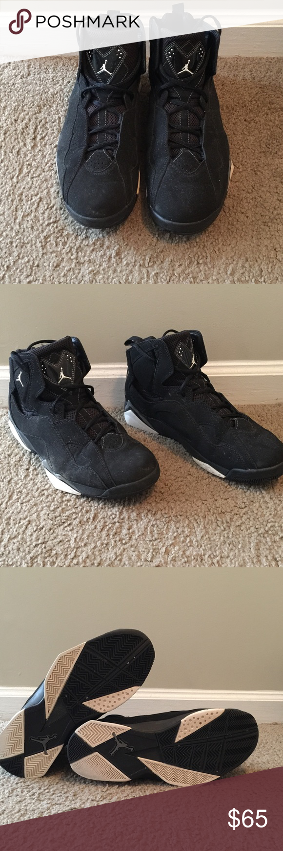 Nike Air Jordan True Flight Black/White Cool Grey 342964-010 Size 11 With Box!!