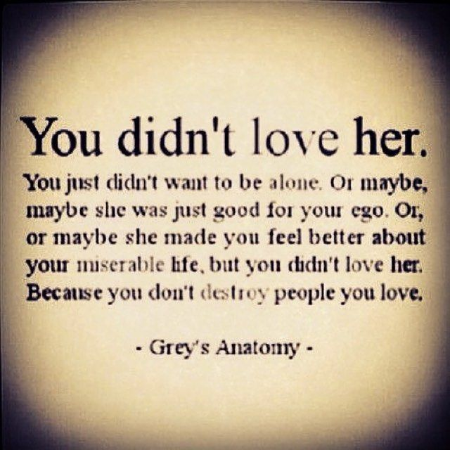 16740fde430e8b37fb7721ca5049fbec you didnt love her (a quote from grey's anatomy and a fantastic,Meme Love Quotes