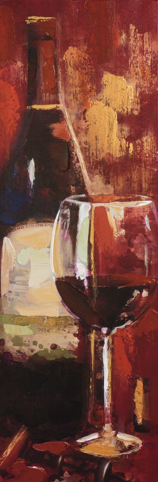 Tableau Vin abstrait 30x90 Peinture acrylique - Infos et ...