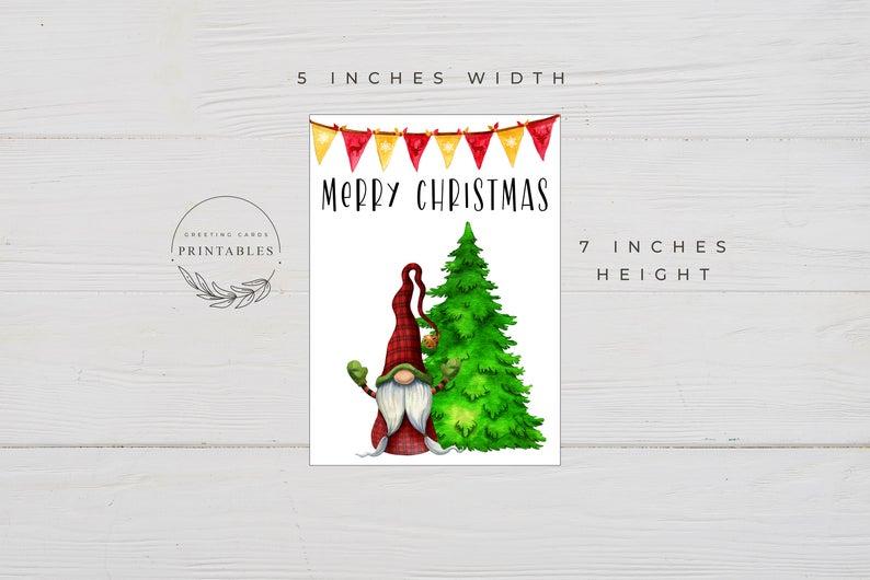 Printable Merry Christmas Card Digital Download Printable Etsy Merry Christmas Card Cards Fathers Day Cards