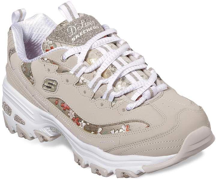 Skechers D Lites Floral Days Women S Sneakers Womens Sneakers Sneakers Fashion Stylish Sneakers