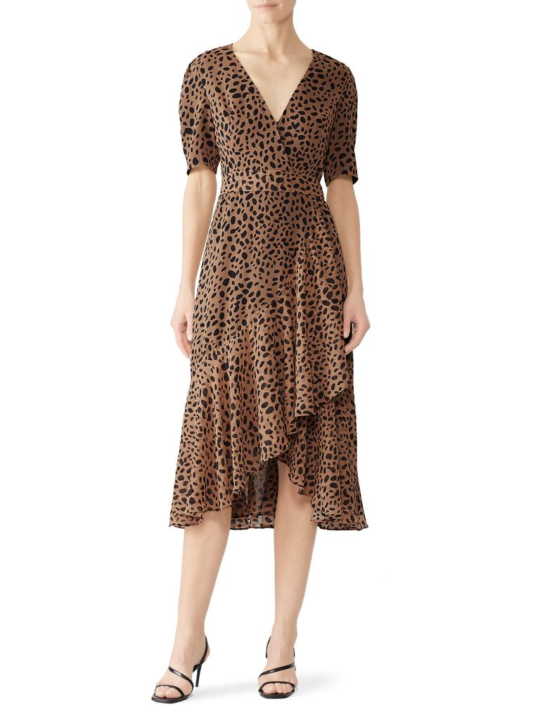 Fame And Partners Casual Dress A Line Tan Print Dresses Used Size 10 In 2021 Wrap Dress Dresses Print Dress [ 1024 x 768 Pixel ]