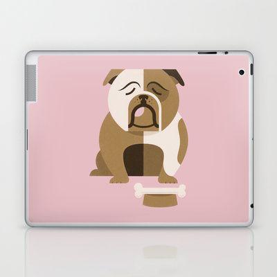 Bulldog Laptop & iPad Skin by Jude Landry - $25.00
