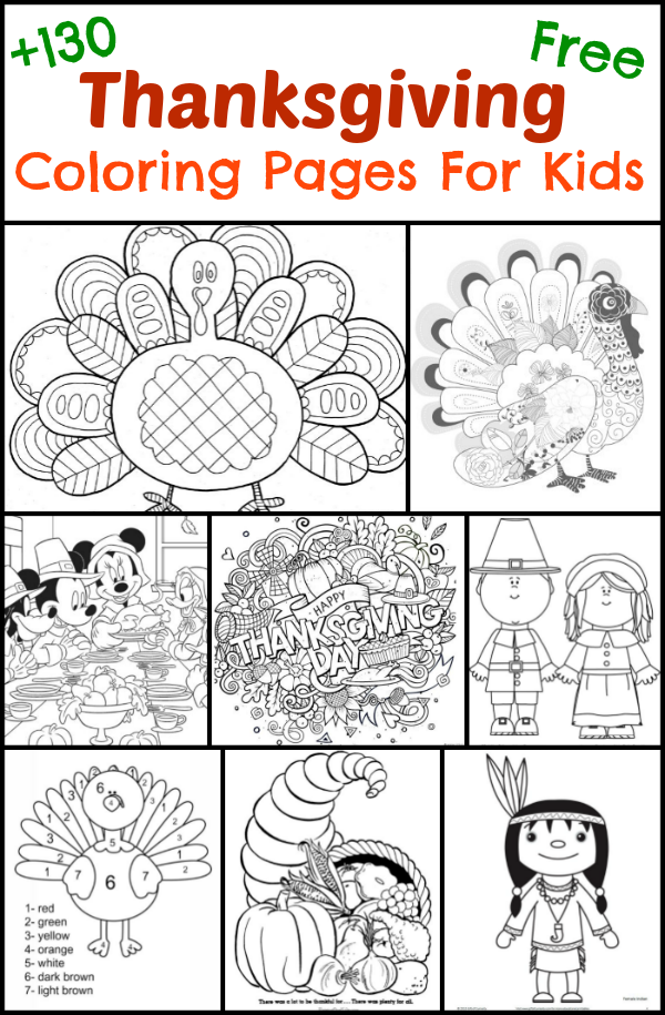 130 thanksgiving coloring pages for kids the suburban mom free printable - Printable Turkey Coloring Pages Free 2