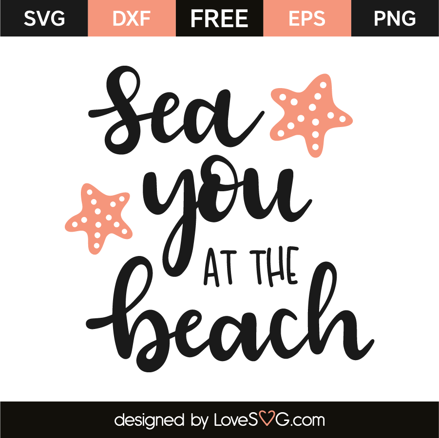 Download Sea you at the beach | Free svg files monogram, Svg files ...