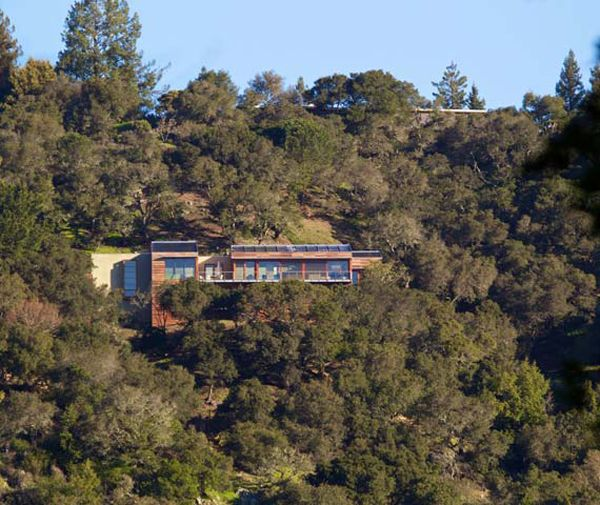 Home Built Into The Hillside in Kentfield, California ...