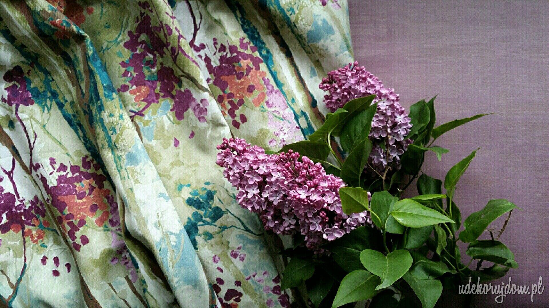 Odcienie Kwiatow Bzu Lilacflower Lilac Fabric Flowers Kwiaty Kwiatywdomu Purple Violet Homedecor Interiordesign Watercolor Fabric Fabric Watercolor