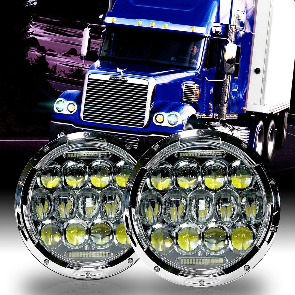 Led Headlamp Headlights Chrome Upgrade Kit For Freightliner Coronado Led Headlamp Big Trucks Headlights