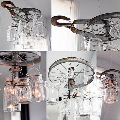 Diy vintage pulley chandelier chandeliers mason jar chandelier diy vintage pulley chandelier vintage chandeliermason jar mozeypictures Image collections