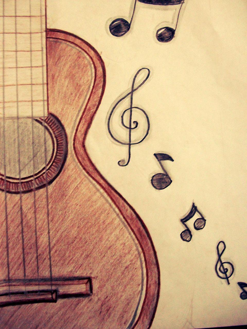 Resultado De Imagen Para Dibujo De Guitarra A Lapiz Dibujos Geniales De Arte Dibujos De Guitarras Boceto De Dibujo