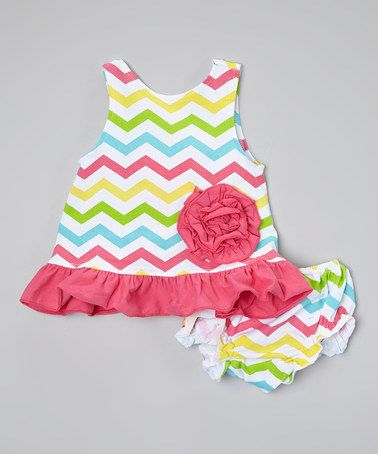 ad3836e102c6 Another great find on #zulily! Rainbow Chevron Swirl Swing Top & Bloomers -  Infant by Under The Hooded Towels #zulilyfinds