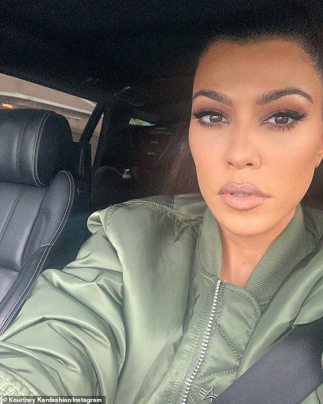 Kourtney Kardashian shares selfies amid movie night and ...