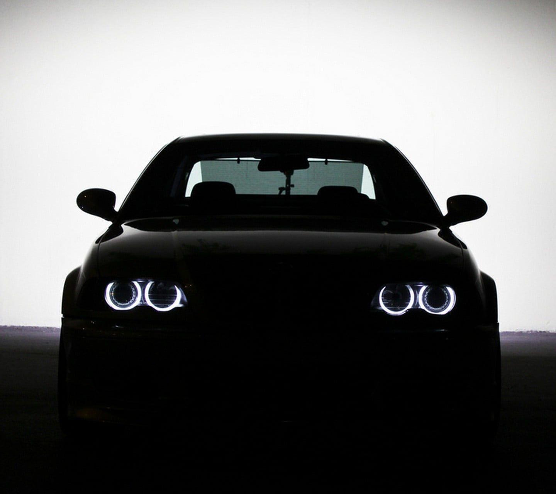 Black Car Bmw M3 E46 Angel Eyes Car E 46 720p Wallpaper Hdwallpaper Desktop In 2021 Black Car Angel Eyes Bmw M3