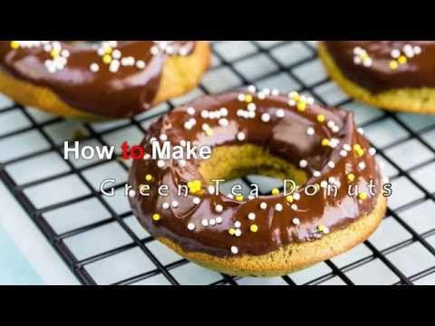 How to Make Green Tea Donuts (Recipe) 抹茶ドーナツの作り方(レシピ)