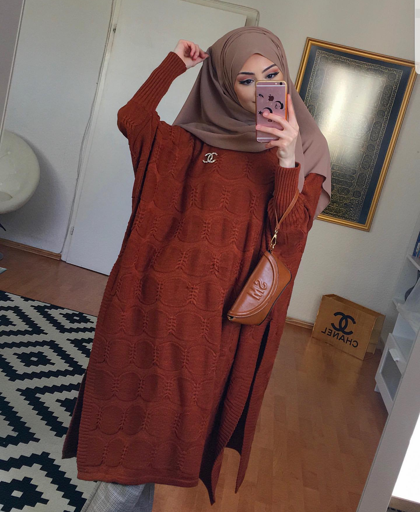 Sweater Dresses With Hijab Style in 2020 | Muslimah ...