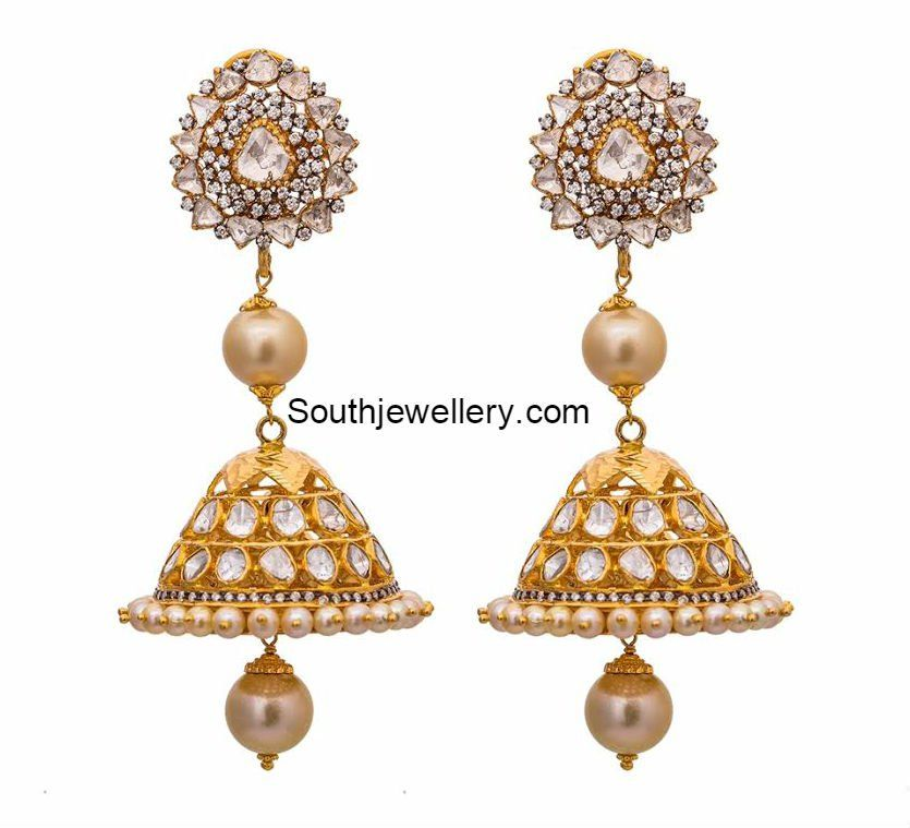 Antique Gold Jhumkas, tanya rastogi collection | Jewellery I like ...