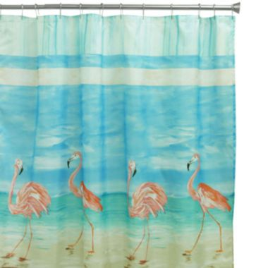 Bacova Flamingo Shower Curtain found at @JCPenney