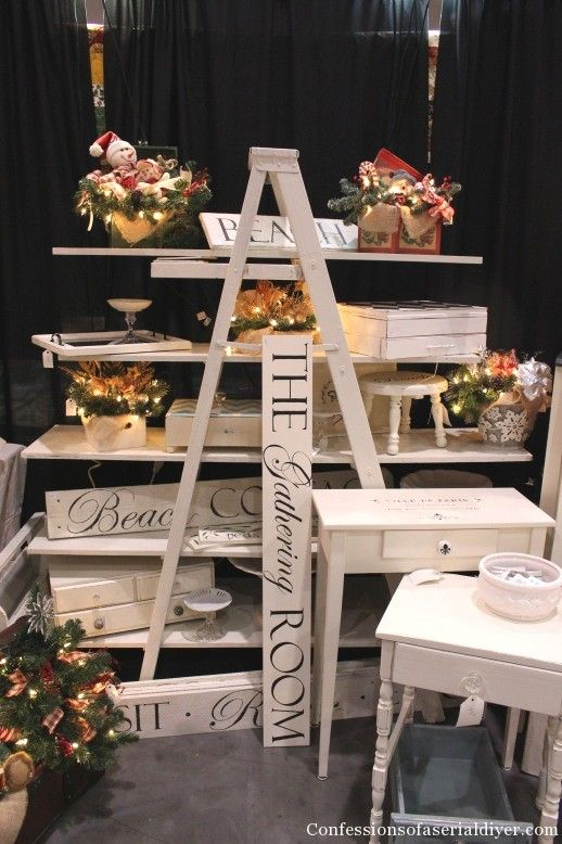 My Christmas Market Booth Craft Booth Displays Ladder