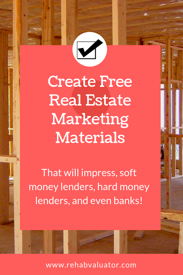 Create Free Marketing Materials That Will Impress All Lenders And Wholers Present Every Detail Of Your Real Estate Deal In A Concise Effective Way