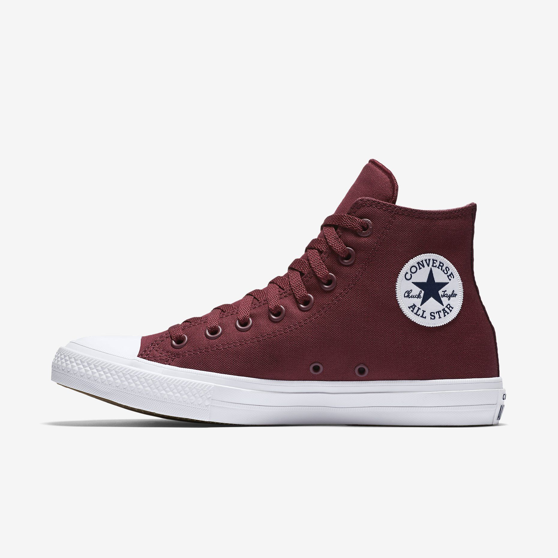 Converse Chuck II High Top Shoes Burgundy