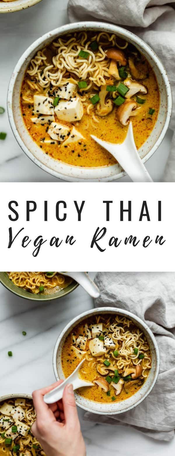 Spicy Thai vegan ramen - Choosing Chia