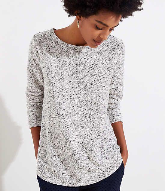 d13d59b57a1 Shop LOFT for stylish women's clothing. You'll love our irresistible Boucle  Sweatshirt - shop LOFT.com today!