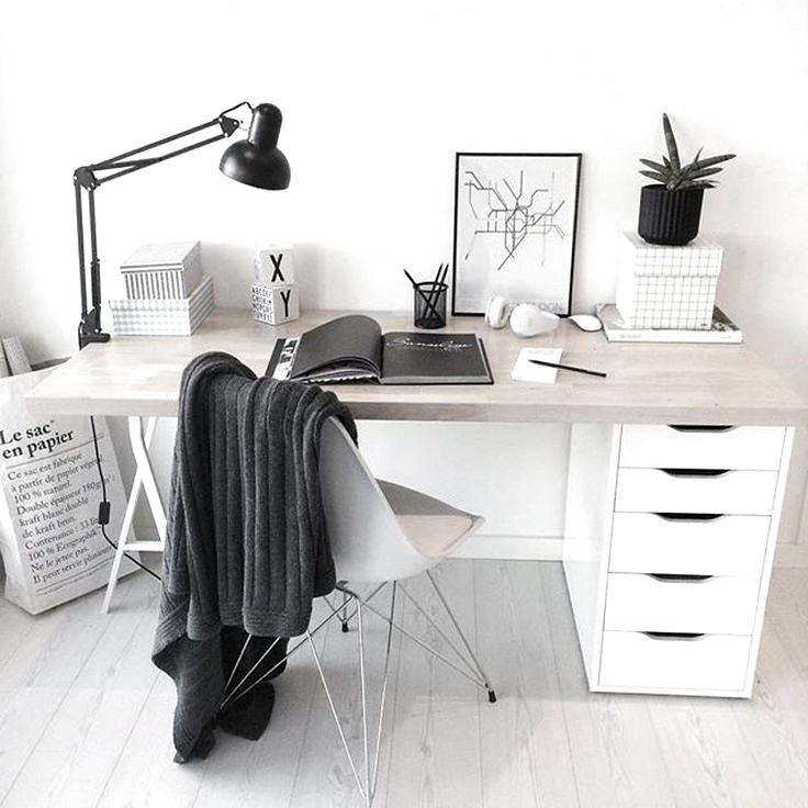 Cross Base Desk Glass Top/Nickel Base - Office Desk - Ideas of Office Desk #OfficeDesk - this on one side of the bed and a bedside table on the other? If theres. . #officeroomnumberingsystem