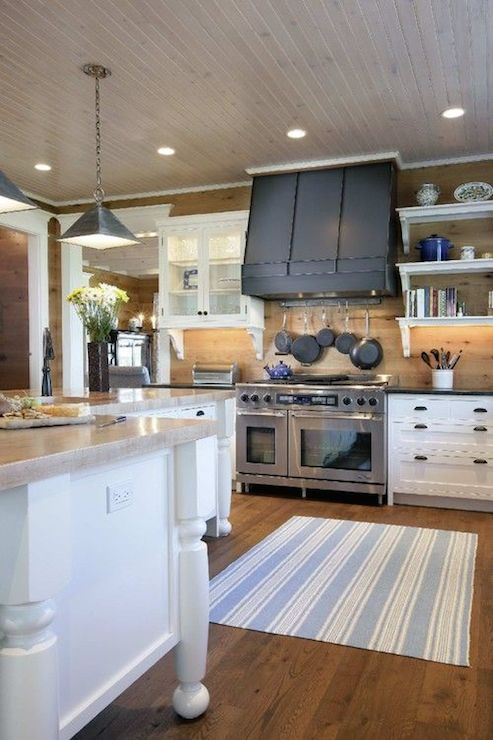 Gorgeous Farmhouse Kitchen With Dual Stainless Steel