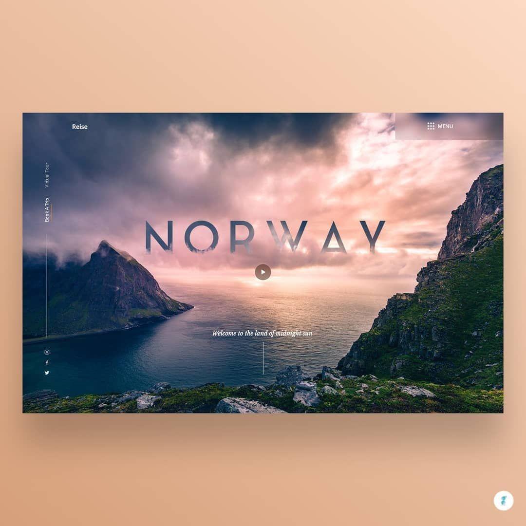 Norway Tourism Website Concept Tourism Website Tourism Corporate Web Design
