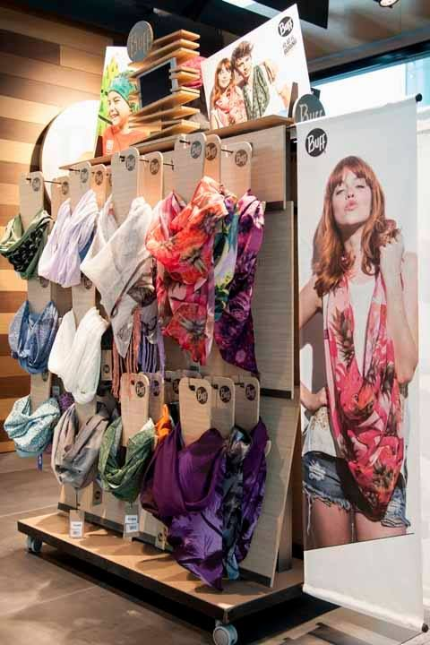 Buff Infinity Scarves On Display In The Barcelona Airport Craft Show Displays Market Stands Fairs
