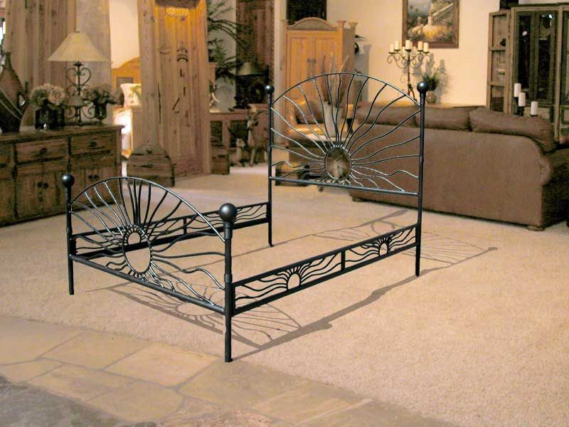 King Bed   Hand Forged Wrought Iron Bed   HFW968