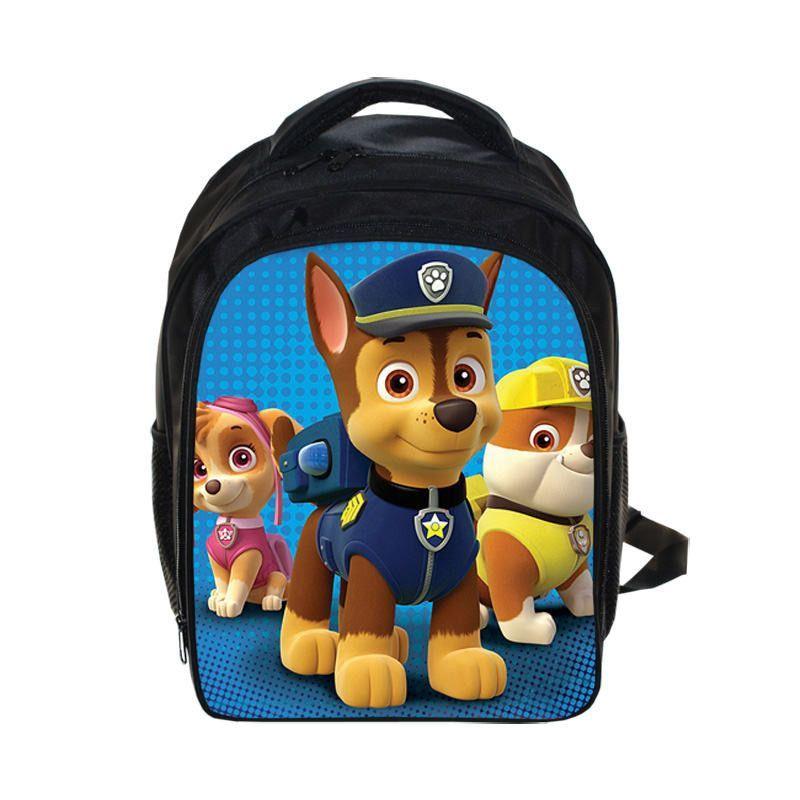 Cartoon Puppy Patrol Backpack Boys Girls School Bags Children ...