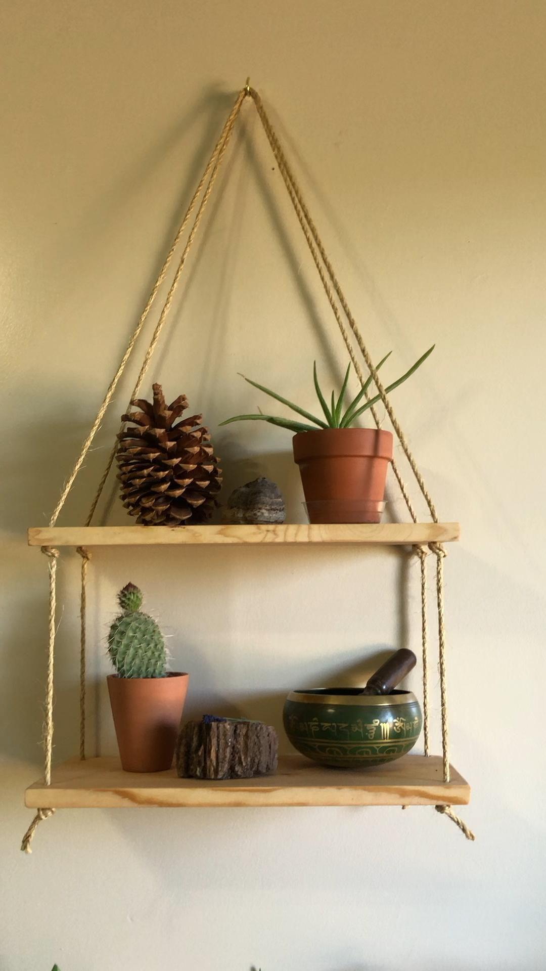Photo of DIY Hanging shelves