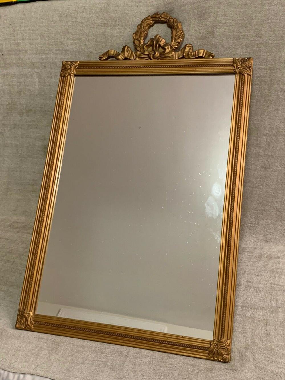 Antique Framed Mirror Gold Wood Ornate Large 34 Tall 21 Wide Vintage Chic Ebay Antique Frames Gold Wood Mirror Frames